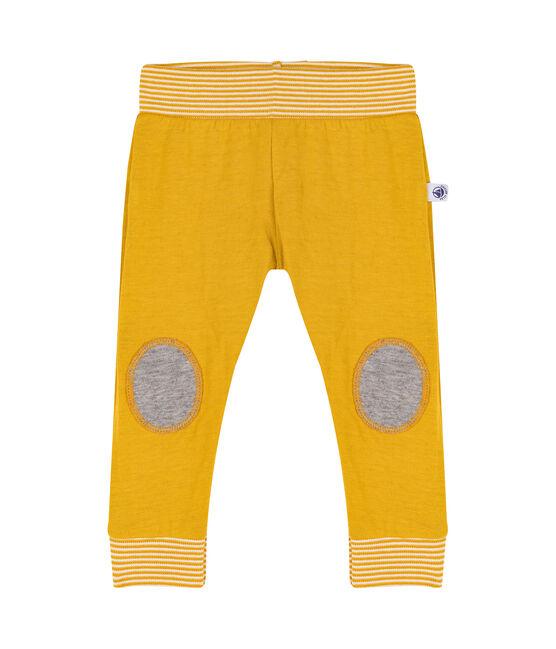 Pantalone bebè in tubique giallo Boudor
