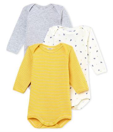 Trio body manica lunga bebè maschietto