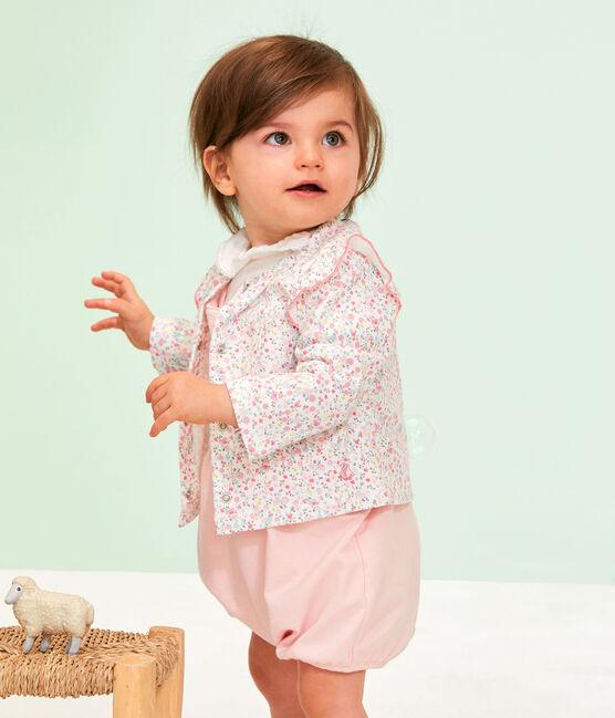 Cardigan leggero bebè femmina in fantasia bianco Marshmallow / bianco Multico