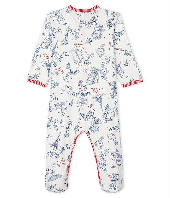 Tutina pigiama bebè a costine bianco Marshmallow / bianco Multico