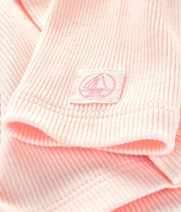 Cardigan bebè a costina 2x2 rosa Fleur