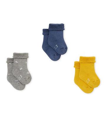 Lotto di tre paia di calzine bebé unisex