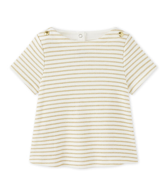 T-shirt bebé bambina rigata
