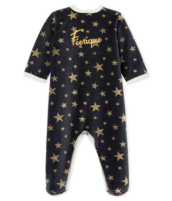 Tutina bebé femmina in ciniglia grigio Capecod / giallo Or