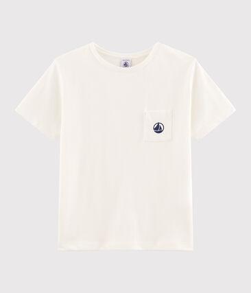 T-shirt bambino bianco Marshmallow