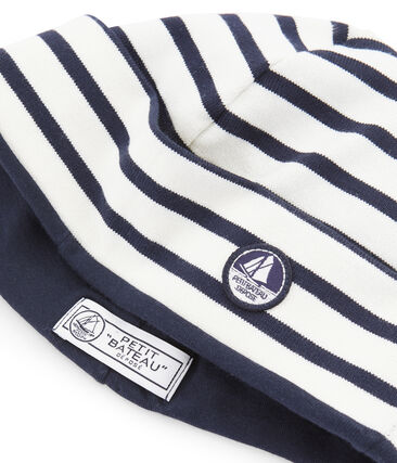Cappello da marinaio unisex beige Coquille / blu Smoking