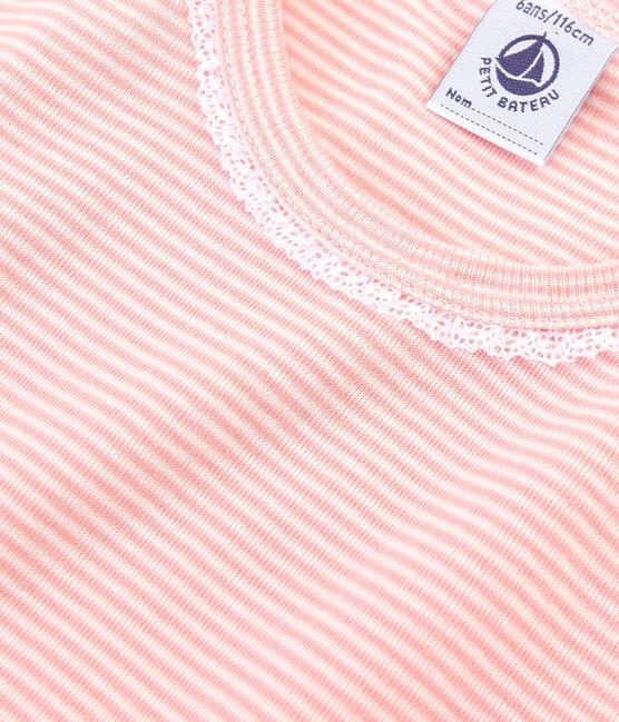 Pigiama bambina a costine rosa Rosako / bianco Marshmallow
