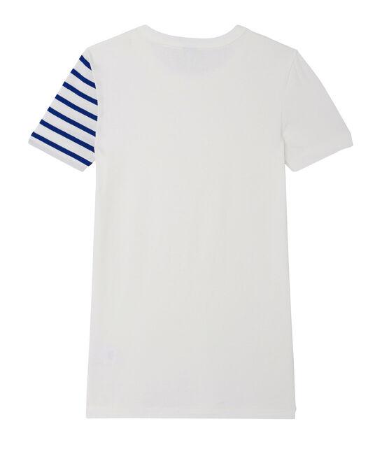 T-shirt donna fantasia in costina originale 1x1 bianco Ecume
