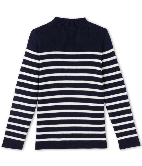 Pull marin per bambino blu Smoking / bianco Lait