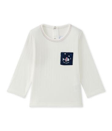 T-shirt bebé bambino tinta unita bianco Marshmallow