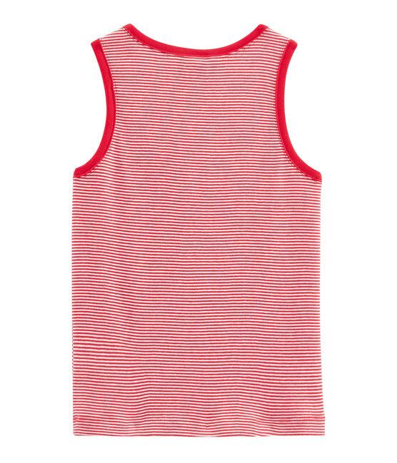 Canottiera bambino rosso Peps / bianco Marshmallow