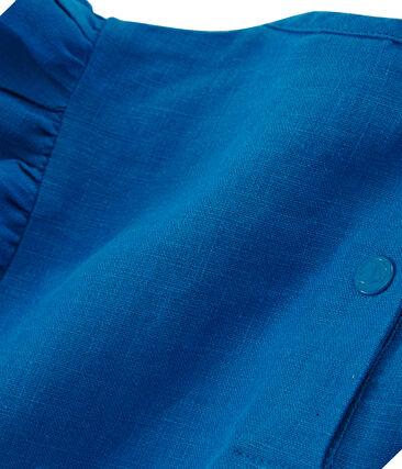 Blusa a maniche corte in lino