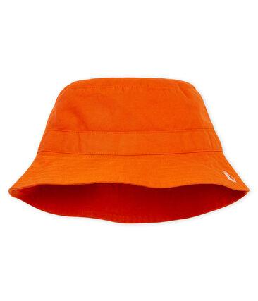 Bob bebè maschio in twill arancione Carotte