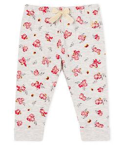 Pantalone bebè femmina in tubique fantasia