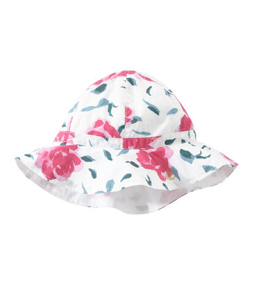 Cappellino bambina in popeline stampato