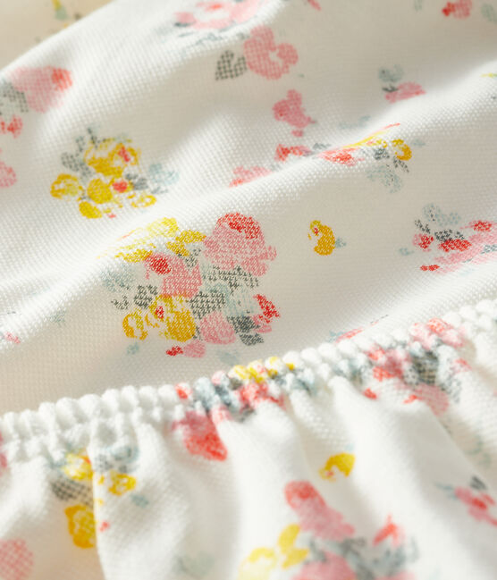 Abito e bloomer bebè femmina a motivi bianco Marshmallow / bianco Multico