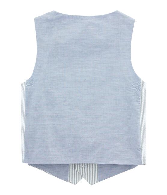 Gilet senza maniche blu Fontaine / bianco Marshmallow