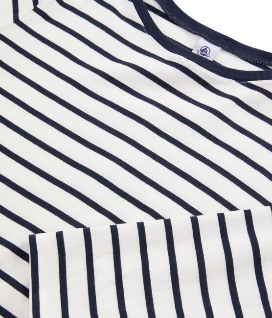 T-shirt alla marinara donna bianco Marshmallow / blu Smoking