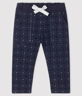 Pantalone bebè maschio in molleton SHADOW/MULTICO