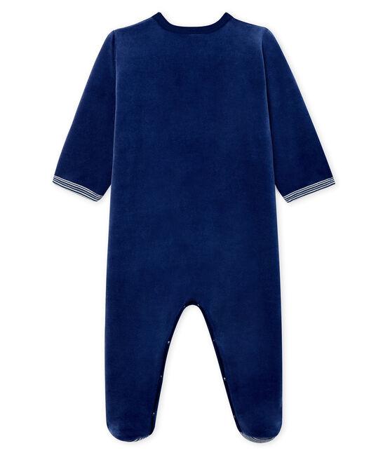 Tutina bebé maschio in ciniglia blu Medieval