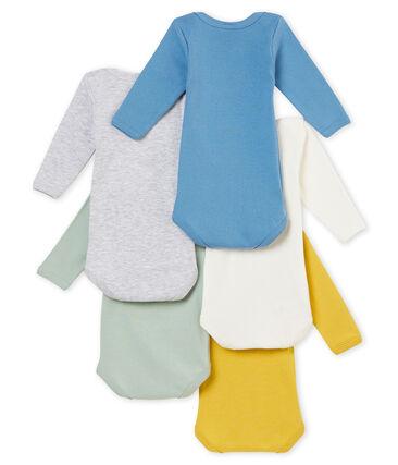 Lotto di 5 bodies a maniche lunghe bebé maschio