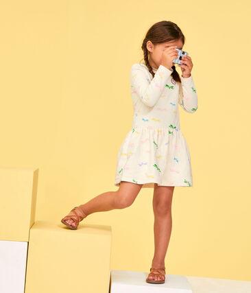 Abito bambina beige Coquille / bianco Multico
