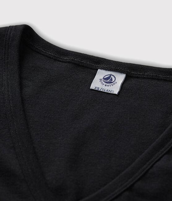 T-shirt iconica scollo a V donna nero Noir