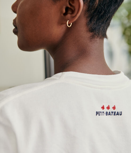 T-shirt Donna/Uomo bianco Marshmallow