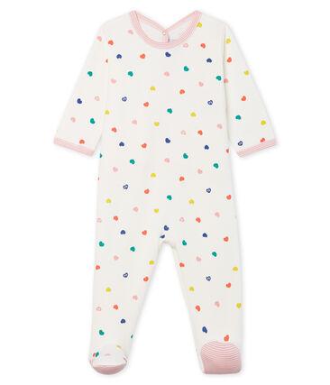 Tutina pigiama bambina in molleton bianco Marshmallow / bianco Multico