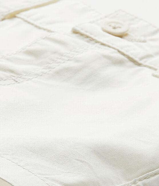 Pantaloncino bebè bambino in cotone bianco Marshmallow