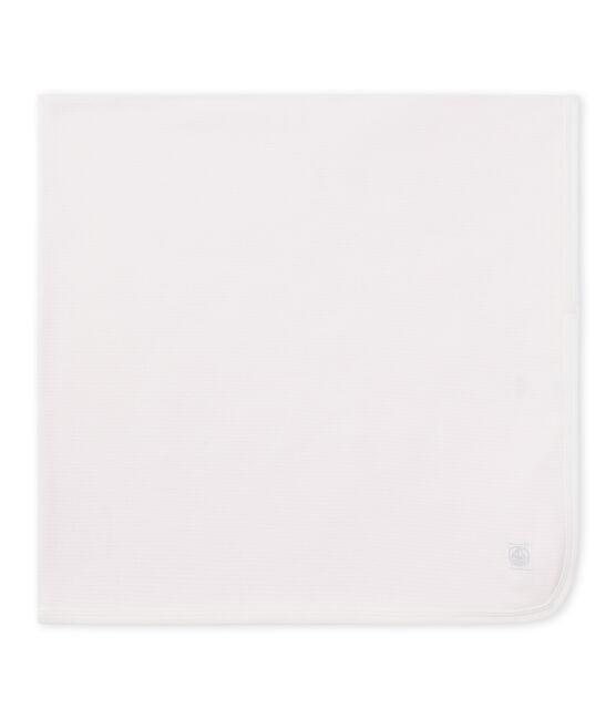 Copertina per bebé unisex millerighe rosa Vienne / bianco Ecume