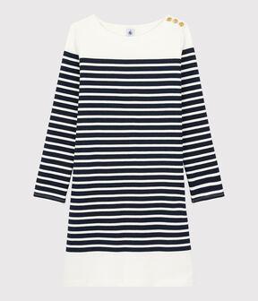 Abito alla marinara Donna blu Smoking / bianco Marshmallow