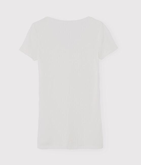 T-shirt iconica scollo a V donna bianco Ecume