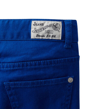Pantaloni colorati per bambino in jeans