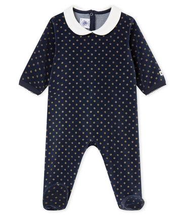 Tutina per bebé femmina blu Smoking / giallo Dore