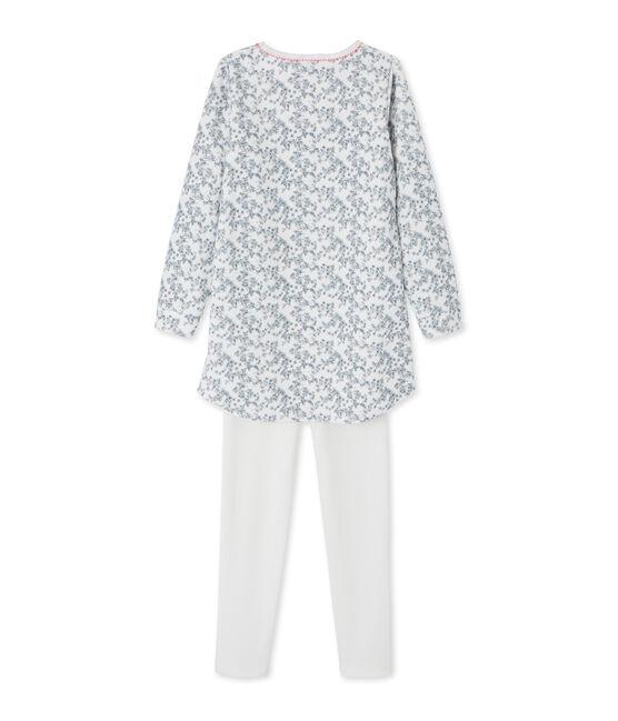 Camicia da notte per bambina con leggings bianco Marshmallow / bianco Multico