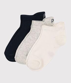 Confezione da 3 paia di calzini bassi bambina/bambino lotto .
