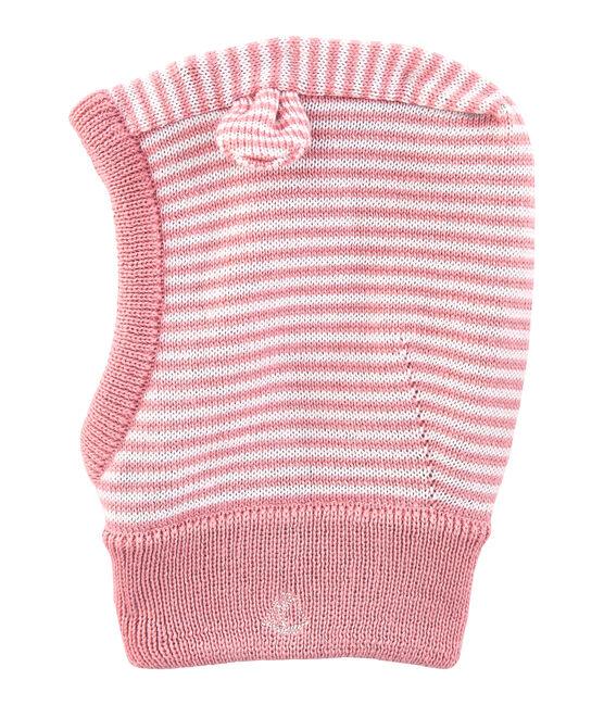 Passamontagna bebè unisex rosa Charme / bianco Marshmallow