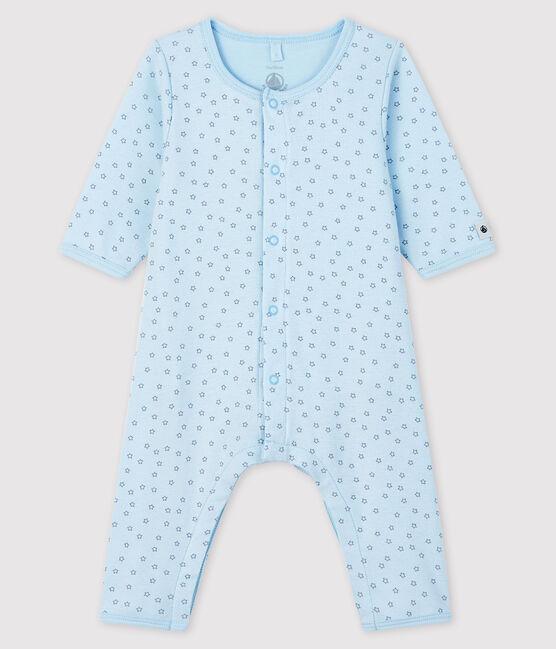 Bodyjama senza piedi da neonato blu a stelle a costine blu Fraicheur / grigio Concrete