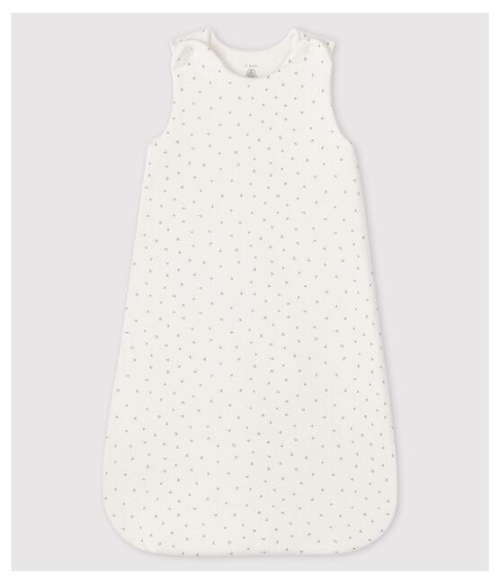 Sacco nanna bianco bebè in tubique di cotone biologico bianco Marshmallow / bianco Multico