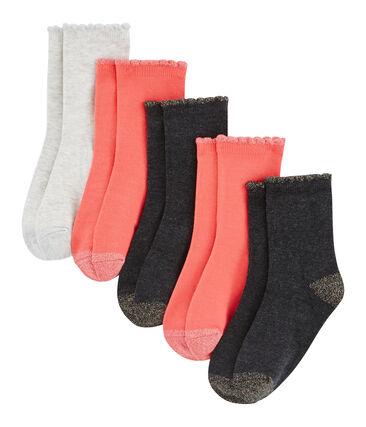 Confezione da 5 paia di calzini bambina