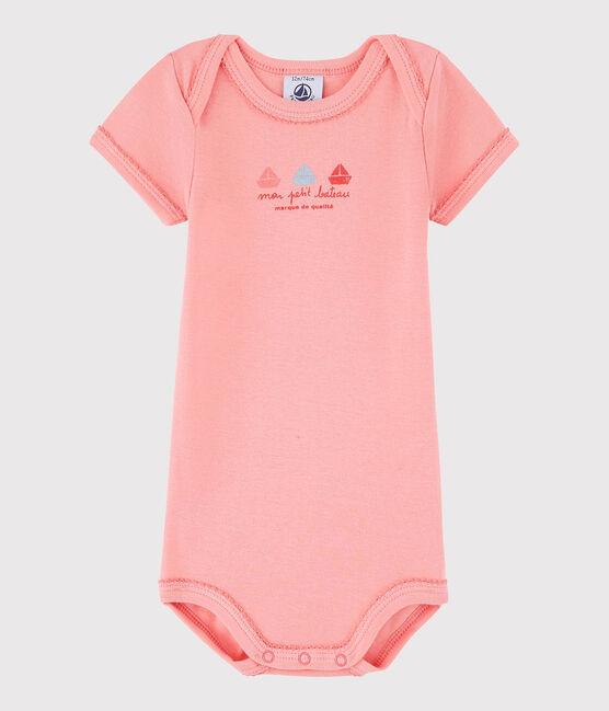 Body manica corta bebè femmina rosa Gretel