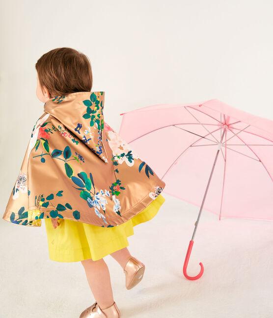 Mantellina da pioggia stampata bebè femmina marrone Cuivre / bianco Multico