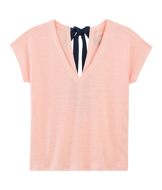 T-shirt in lino donna rosa Patience