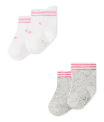Lotto di 2 paia di calze bebé unisex
