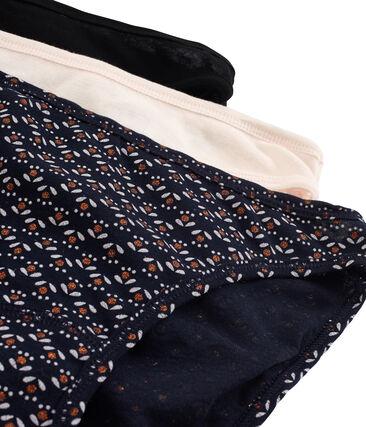 Lotto di 3 slip donna in cotone leggero
