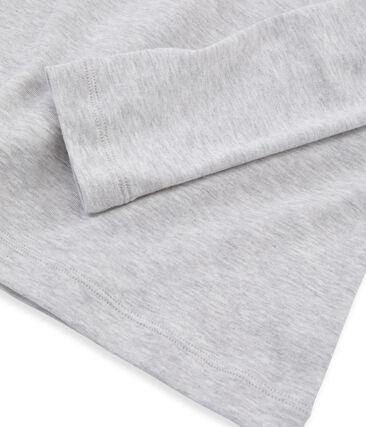 T-shirt manica lunga iconica donna grigio Beluga
