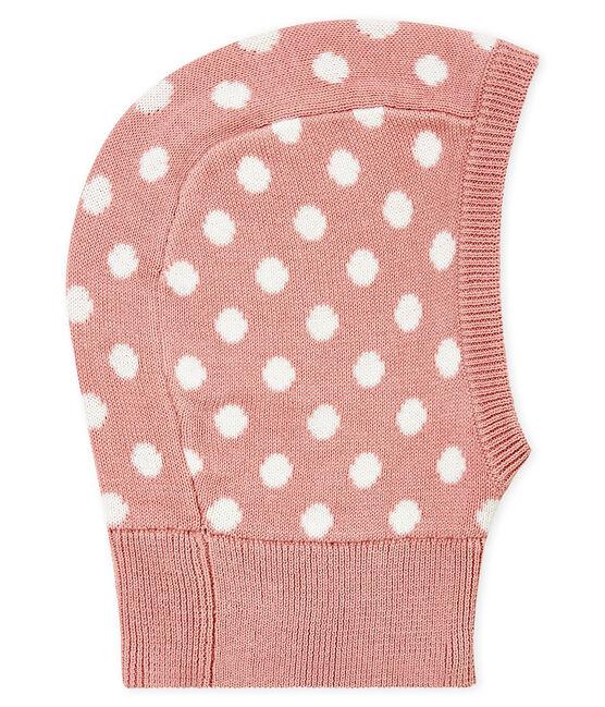 Passamontagna per bebé unisex rosa Joli / bianco Marshmallow