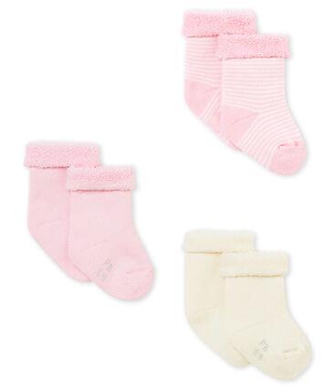 Lotto di tre paia di calzine per bebé unisex