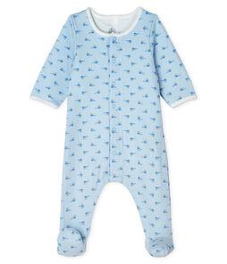 Bodyjama bebè maschio in tubique blu Fraicheur / bianco Multico